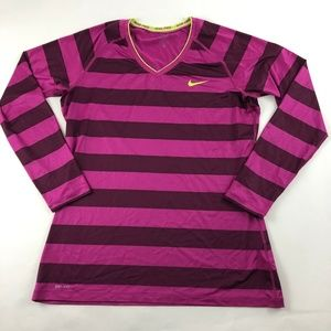 Nike PRO Women's Fitted Long Sleeve V Neck Shirt